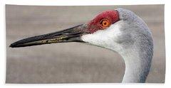 Crane Closeup Beach Sheet