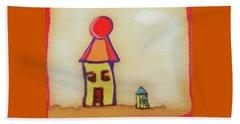 Cranky Clown Cabana And Fire Hydrant Beach Towel