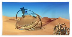 Crash Space Craft In The Desert Beach Sheet