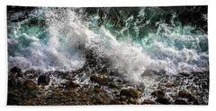 Crashing Surf Beach Towel