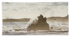 Crashing Tide Beach Towel