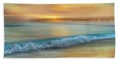 Crashing Waves At Sunrise Dreamscape Beach Towel