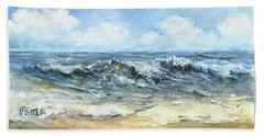 Crashing Waves In Florida  Beach Towel