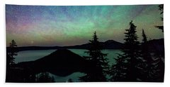 Beach Towel featuring the photograph Crater Lake Airglow by Cat Connor