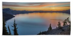 Crater Lake Morning No. 1 Beach Towel