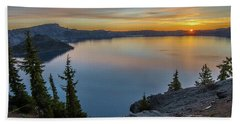 Crater Lake Morning No. 2 Beach Towel