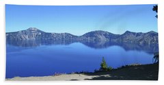 Beach Towel featuring the photograph Crater Lake by Tony Mathews