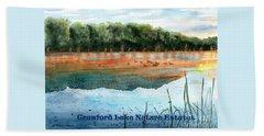 Crawford Lake Nature Estates Beach Sheet by LeAnne Sowa