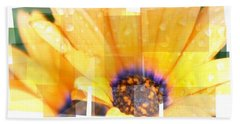 Crazy Flower Petals Beach Sheet by Amanda Eberly-Kudamik
