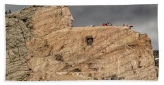 ...entrance Crazy Horse Memorial South Dakota.... Beach Towel