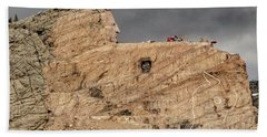 ...entrance Crazy Horse Memorial South Dakota.... Beach Sheet