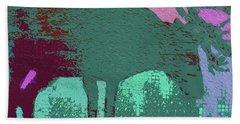 Crazy Looking Moose Beach Sheet by Robert Margetts