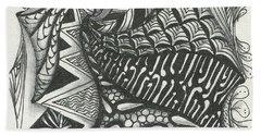 Crazy Spiral Beach Towel by Jan Steinle