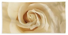 Beach Towel featuring the photograph Creamy Rose by Mary K Conaboy