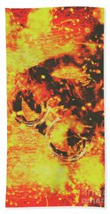 Creative Industrial Flames Beach Towel