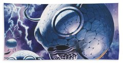 Creatures In Outer Space  Beach Towel by Wilf Hardy