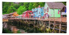 Creek Street Ketchikan Alaska Beach Towel