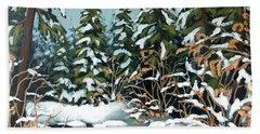 Creek, Winter, Snow Beach Sheet