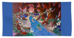Creekside Fairy Celebration Beach Sheet