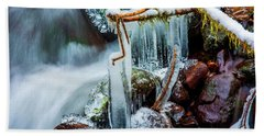 Creekside Icicles Beach Towel
