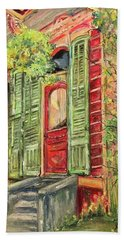 Creole Painted Lady In The Marigny Beach Towel