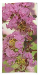 Crepe Myrtle And Bee Beach Sheet by Olga Hamilton