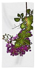 Crepe Myrtle In Oil Beach Towel