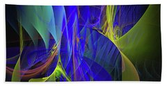 Beach Towel featuring the digital art Crescendo by Sipo Liimatainen