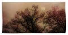 Crescent Between The Trees Beach Towel