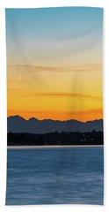 Crescent Moon Sunset Beach Sheet