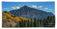 Crested Butte Mountain Beach Towel