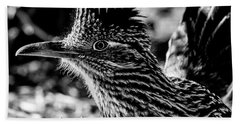 Cresting Roadrunner, Black And White Beach Sheet