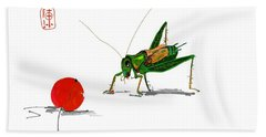 Cricket  Joy With Cherry Beach Towel