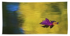 Beach Towel featuring the photograph Crimson And Gold by Steve Stuller