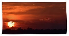 Beach Towel featuring the photograph Crimson Burn by John Glass