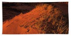 Crimson Dunes Beach Towel