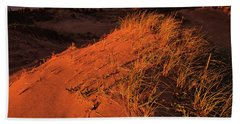 Beach Towel featuring the photograph Crimson Dunes by Doug Gibbons
