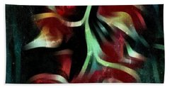 Crimson Flow Beach Towel by Kathie Chicoine
