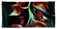 Crimson Flow Beach Towel