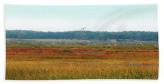 Crimson Marsh 2 Beach Towel