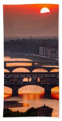 Crimson River Beach Towel by Giuseppe Torre