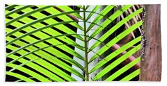 Crisscrossing Palms Beach Towel