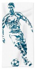 Cristiano Ronaldo Real Madrid Pixel Art 1 Beach Towel