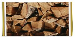 Beach Towel featuring the photograph Cutie Critter In The Wood Pile by Jack Pumphrey
