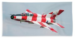 Croatian Air Force Mig-21ub Beach Towel by Tim Beach