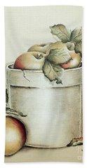 Crock Of Apples - Vintage Beach Towel