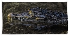 Crocodile Reflections Beach Towel
