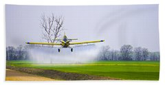 Precision Flying - Crop Dusting 1 Of 2 Beach Sheet