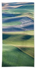 Crops And Contours Beach Towel