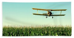 Crops Dusted Beach Sheet by Todd Klassy